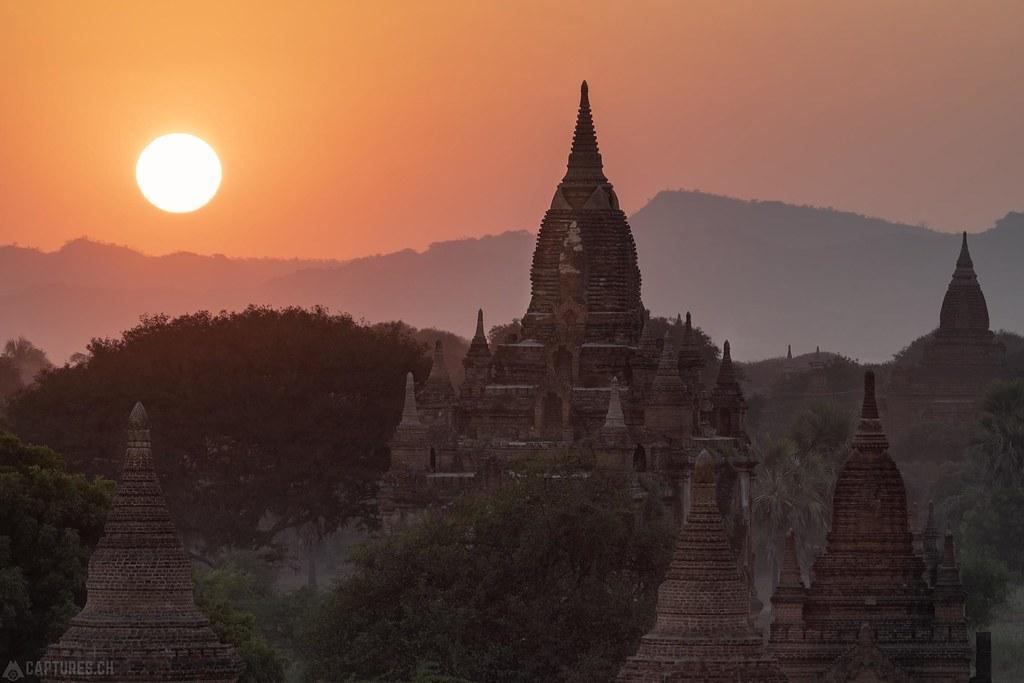 Sunset over the Pagodas - Bagan