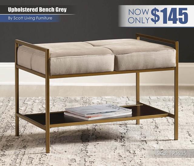 Upholstered Bench Grey_Scott Living_190635