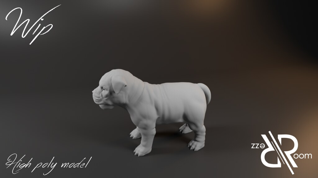 dog high poly model - TeleportHub.com Live!