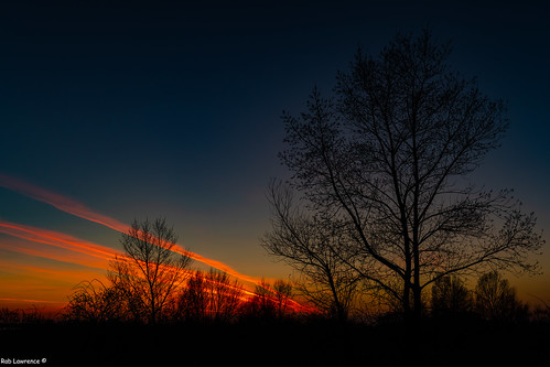 Sunset Reflecting of the Vapour Trails @ The Hungary-Austrian Border, Nicklesdorf.