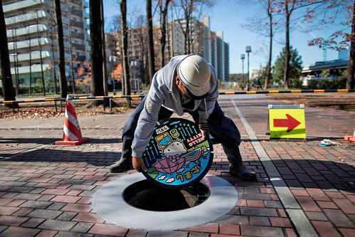 Japan's colorful manhole covers