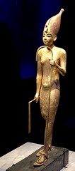 Statue en bois du roi coiffé de la couronne blanche, 1336-1326 av. J.-C.