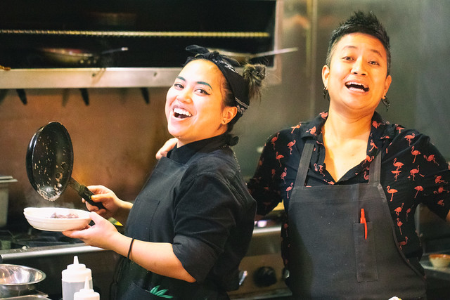 Chef Janice Dulce (right), FOB Kitchen, Oakland, California