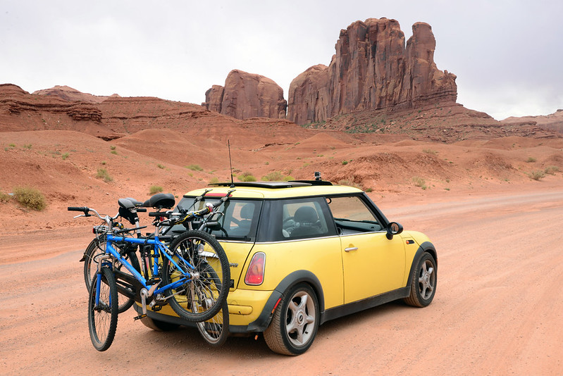 My Mini Cooper in Monument Valley