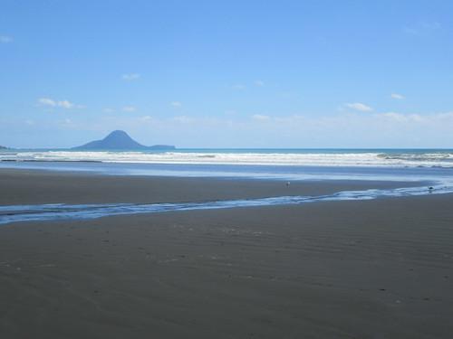 Walking at Ohope Beach