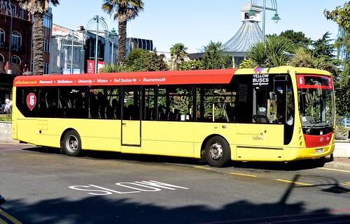 DX57 TVW 'Yellow Buses' No. 803 'red 6'. Volvo B7RLE / Plaxton Centro on Dennis Basford's railsroadsrunways.blogspot.co.uk'