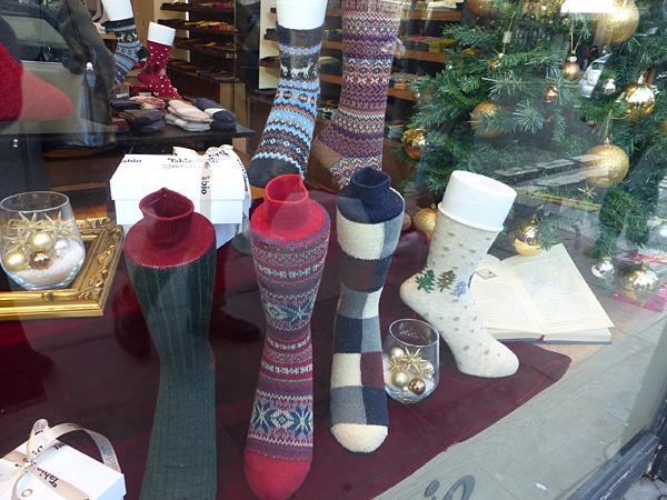chaussettes chic de noel