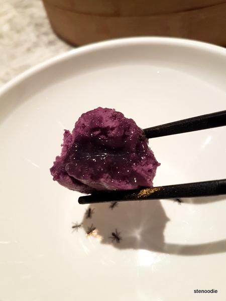 Purple taro lui sa bun 芋蓉流沙