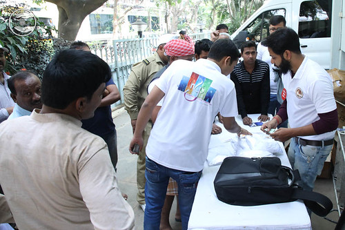 Registration and T-shirts distribution Counter