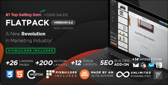 FLATPACK v5.2.2 - Landing Pages Pack With Page Builder