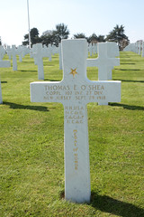Grave of Corporal Thomas E O'Shea Congressional Medal of Honor recipient Somme American Cemetery Bony Picardy France