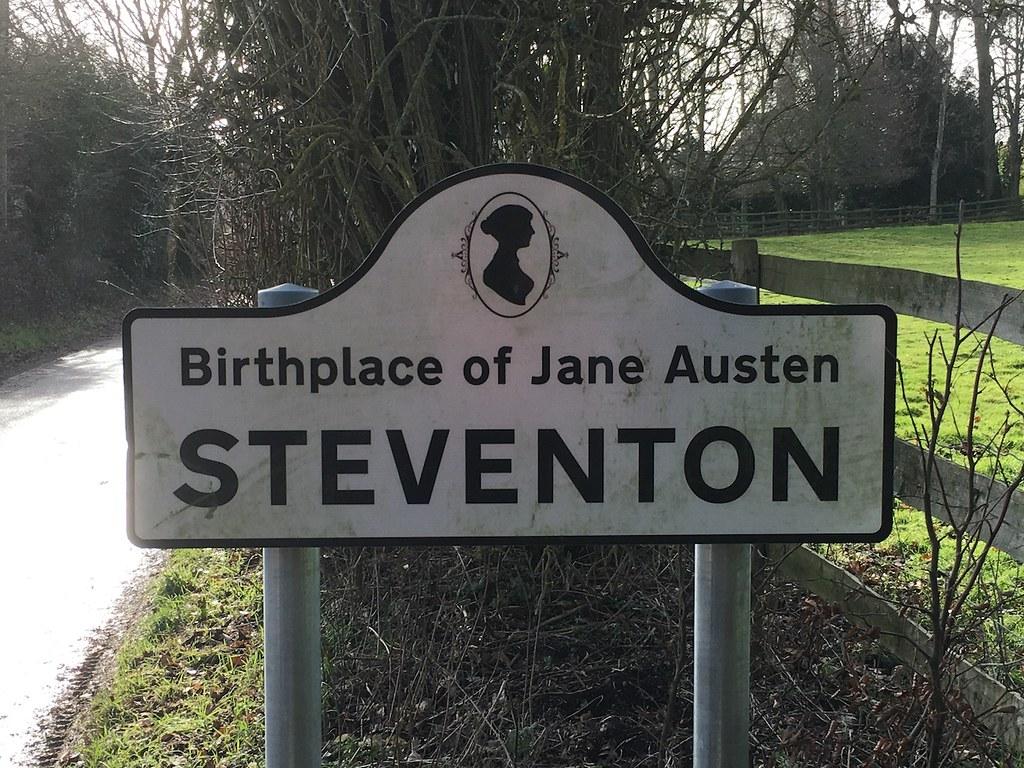 Steventon sign Overton Circular walk