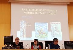 """Mesa redonda: """"Pervivencia de la Literatura medieval en la actualidad"""". Biblioteca Mª Moliner (R. 00761)"""