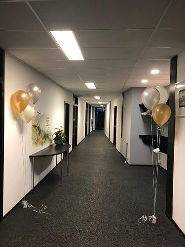Tafeldecoratie 3ballonnen Gronddecoratie Kerkgenootschap Ceme Breda