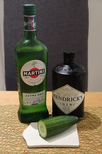 Zutaten für einen Hendrick's Martini