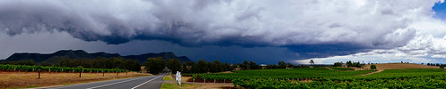 Storm clouds in Hunter Valley