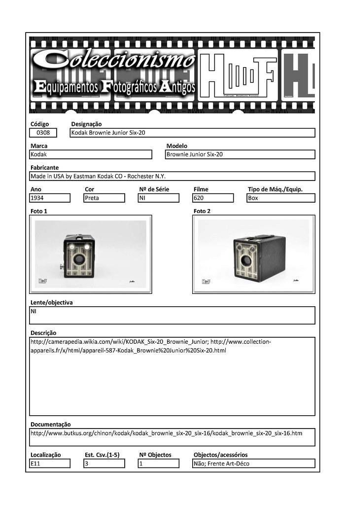 Inventariação da colecção_0308 Kodak Brownie Junior Six-20