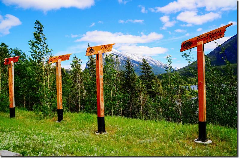 Mountain sign, Kootenay National Park, Alberta, Canada