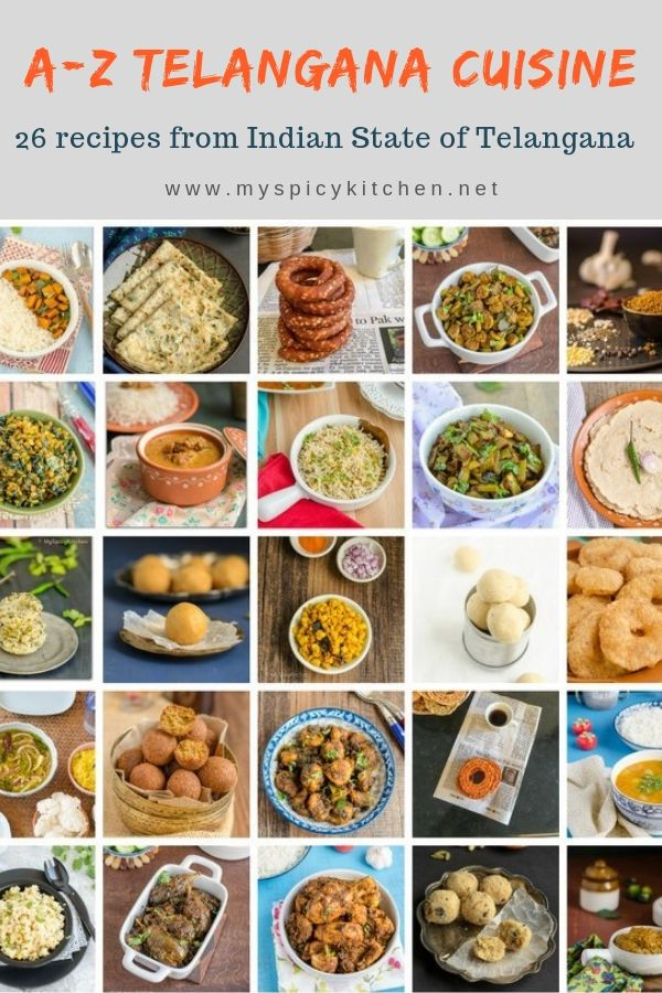26 delicious dishes from Indian State of Telangana.  Checkout the collection.