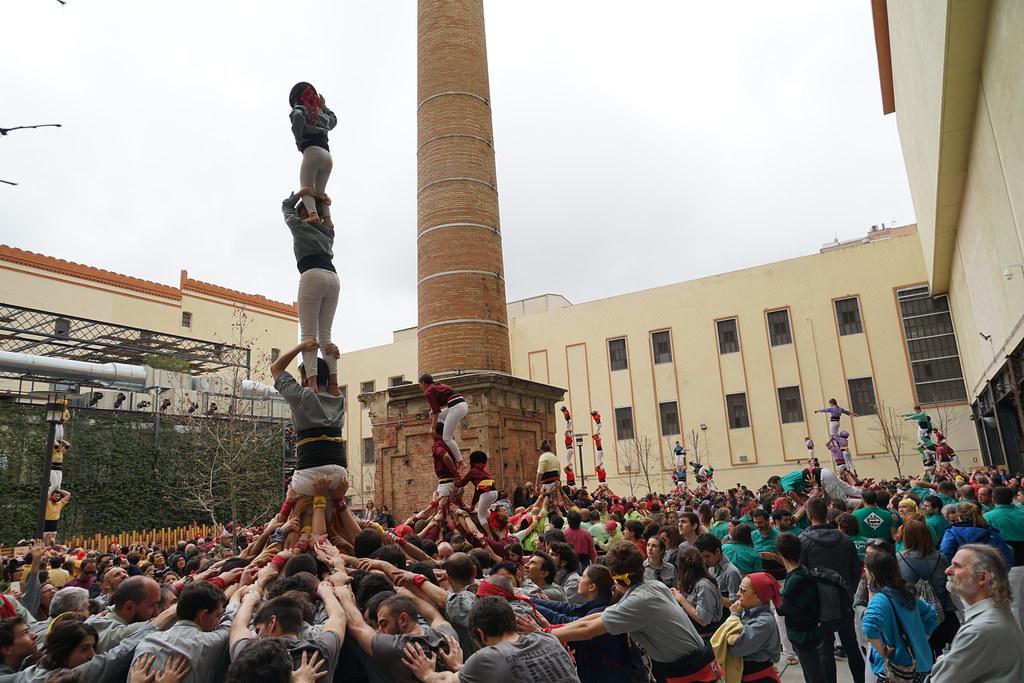 Diada fillols Castellers de BCN 50 anys, 17 de Març de 2019