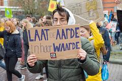 Klimaatprotest scholieren Amsterdam