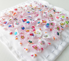 hand embroidered charm square