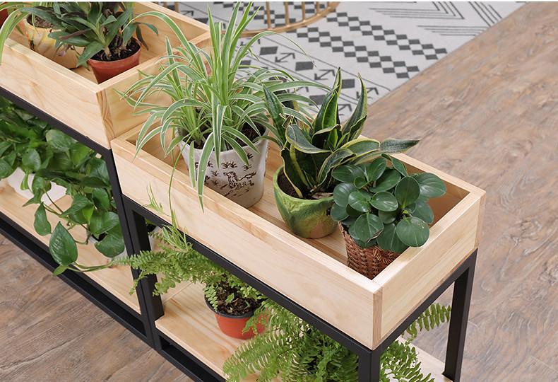 Kệ khung sắt + hộp gỗ trồng cây GHZ-519 đẹp ngất ngây con Gà Tây đấy ạ