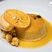 Meyer lemon flan, tangerine sorbet, suzette sauce