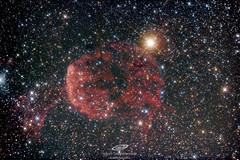 """Una de las dos nebulosas medusa, ésta es IC443, de éste sábado des del desierto de los Monegros, Huesca. Son 1:45h (21×300s) con newton ts 6"""" f4, corrector de coma Baader mpcc y Canon eos 600D modificada y refrigerada"""