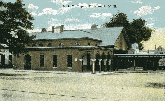 Postcard view of Portsmouth, N.H. station, c1920