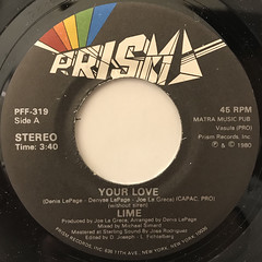 LIME:YOUR LOVE(LABEL SIDE-A)