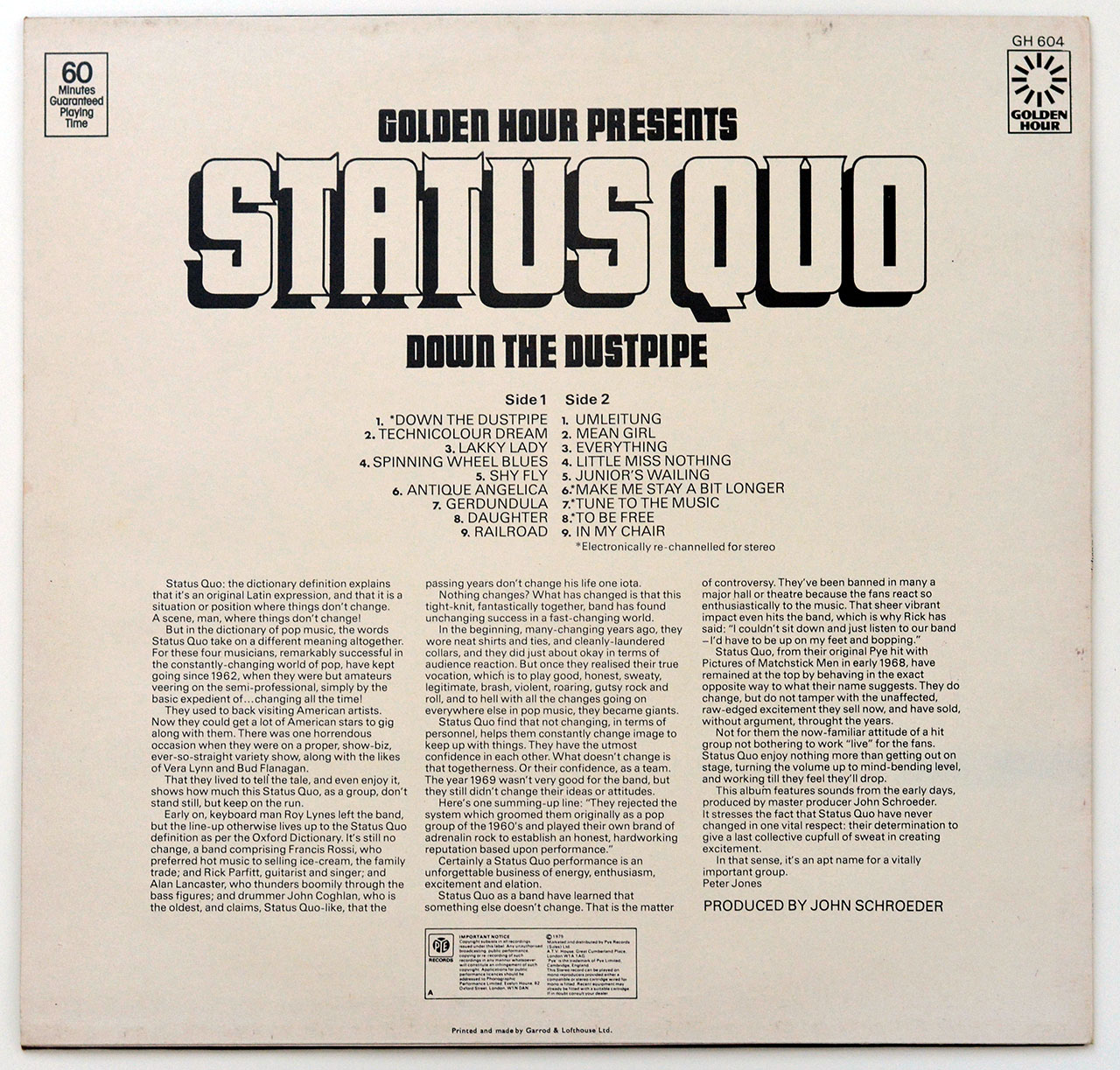A0700 STATUS QUO Down The Dustpipe (OIS)