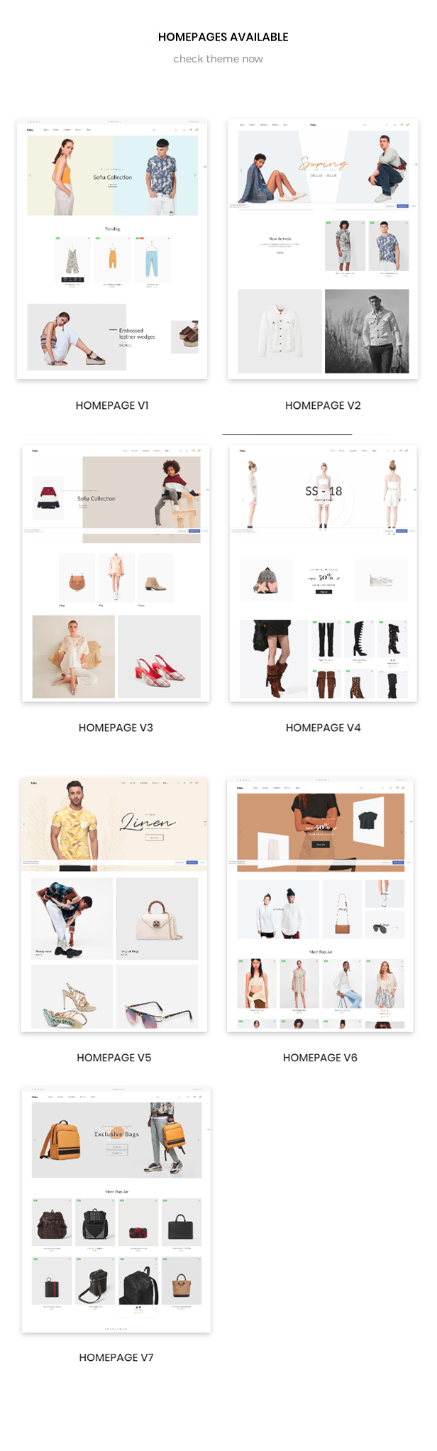 shopify theme multiple for homepages