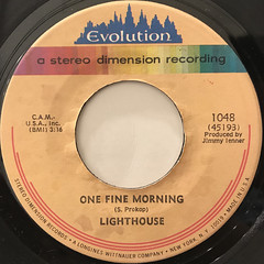LIGHTHOUSE:ONE FINE MORNING(LABEL SIDE-A)