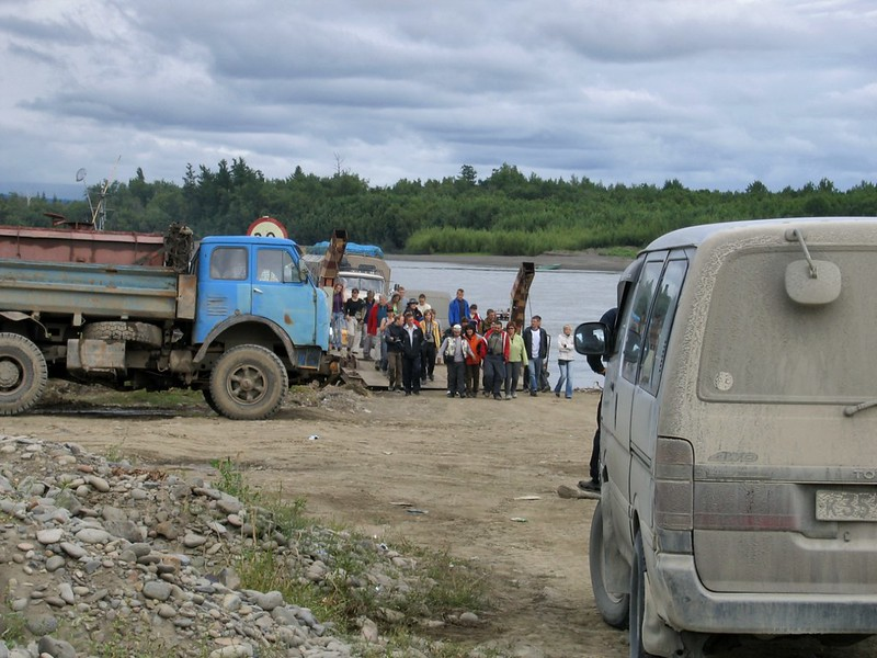 Паромная переправа через Камчатку