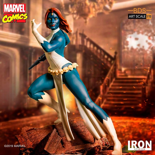 有劍齒虎的左手可以替換呀~ Iron Studios Battle Diorama 系列 Marvel Comics【魔形女】Mystique 1/10 比例決鬥場景雕像作品