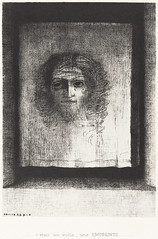 It Was a Veil, an Imprint by Odilon Redon