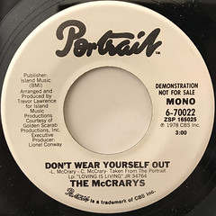 THE MCCRARY'S:DON'T WEAR YOURSELF OUT(LABEL SIDE-A)