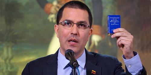 Rueda de prensa Canciller Jorge Arreaza y Viceministro para Norteamérica Carlos Ron desde la Casa Amarilla