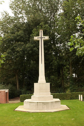 Cross of Sacrifice Kemmel Chateau Military Cemetery Belgium