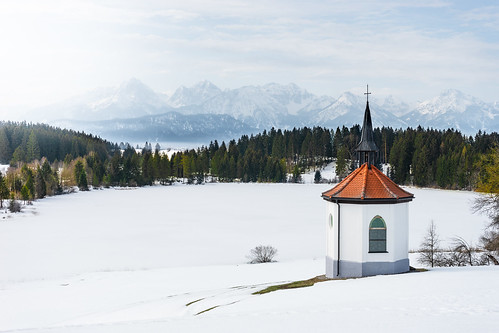 Chapel at Hegratsrieder See in winter from Toni Hoffmann