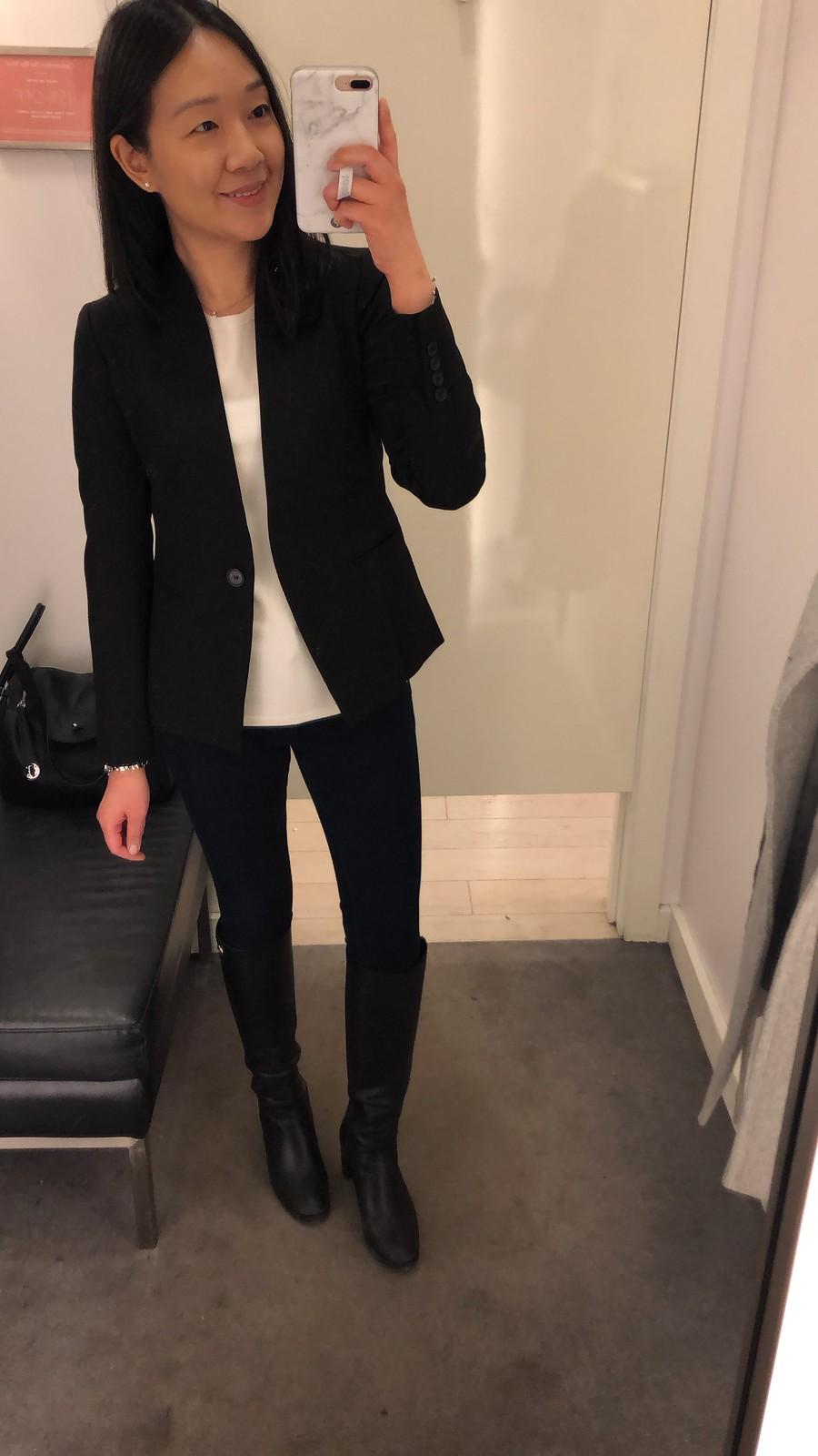 Ann Taylor Bi-Stretch Modern Blazer, size 00P