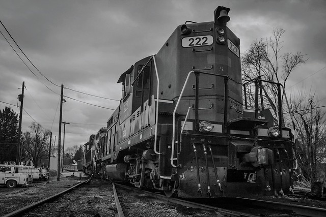 Y&S 222 out of shop ready to wake up the sleeping beast inside the next coming week. Taken on march 9,2019 at North Lima yard.