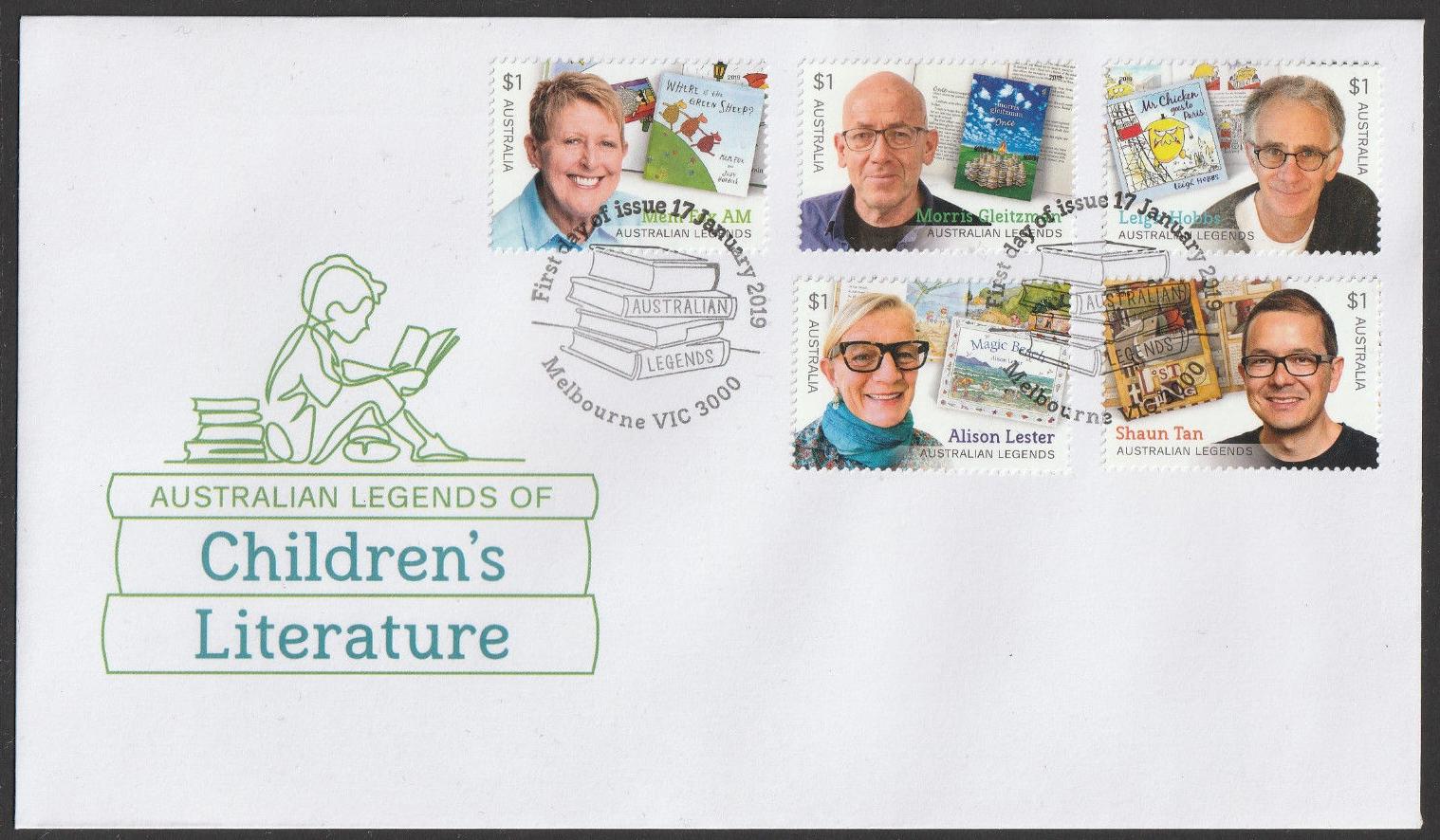 Australia - Australian Legends of Children's Literature (January 17, 2019) first day cover