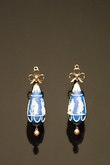 Tiny cameo earrings