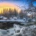 Sunrise in Myllykoski rapids by M.T.L Photography