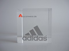 VINTAGE ADIDAS PAPERWEIGHT CUBE
