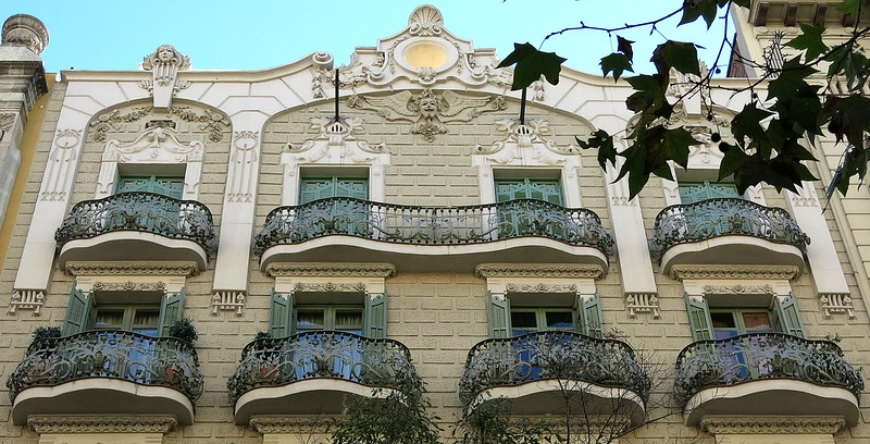 One long balcony, Barcelona