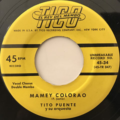 TITO PUENTE Y SU ORQUESTA:TITORO(LABEL SIDE-B)