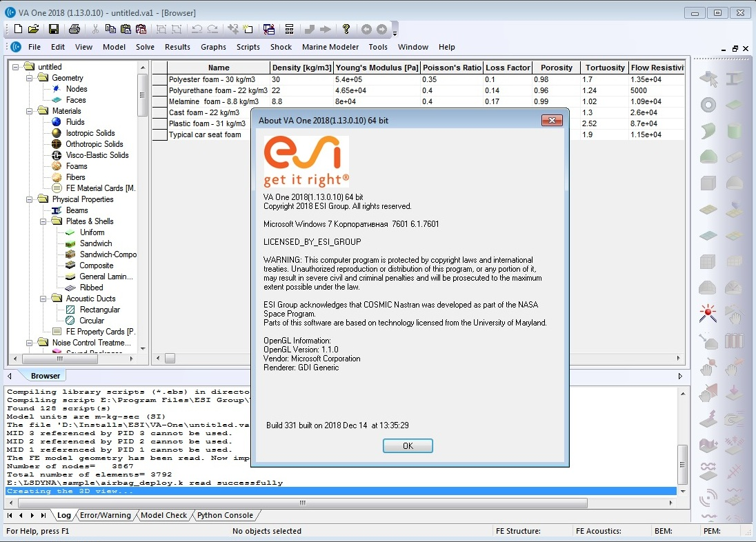 Working with ESI VA One 2018.0 x64 full license